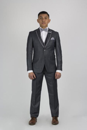 SM153 Dark Grey Masculine color Grey Tux ~ Gray