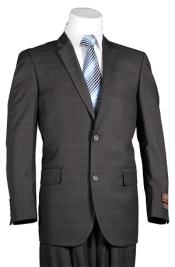 Mens Plaid Suit Vitali Dark
