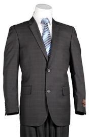 Mens Plaid Suit Vitali Dark Grey Masculine color Windowpane