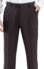 SW968 Winthrop & Chruch 100% Wool Fabric Pleated Slacks