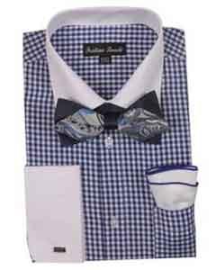 Checks Shirt French Cuff With