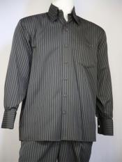 mens Classic Striped Design Grey
