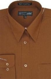 HE254 brown color shade Dress Shirt