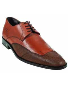 MK918 CatShark Skin Cognac Dress Shoe