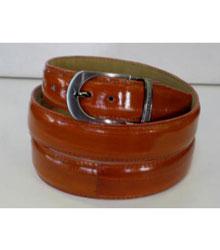 Genuine Authentic Cognac Eel Belt