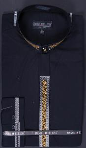 Collar Embroidered dress shirts