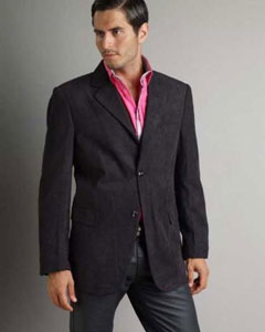 SM339 37750-J Liquid Jet Black Patroncito Corduroy Fashion Jacket