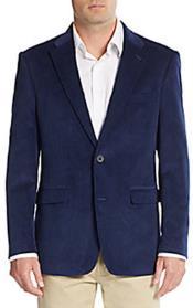 RA81 Corduroy Blazer Online Sale Regular Fit Royal Blue