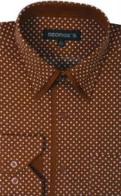 Product#SW933George100%CottonPolkaDotDesignDressShirt