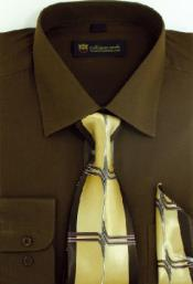 SW902 Milano Moda Classic Cotton Dress Shirt with Ties