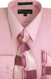 SW913 Milano Moda Classic Cotton Dress Shirt with Ties