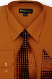 SW916 Milano Moda Classic Cotton Dress Shirt with Ties