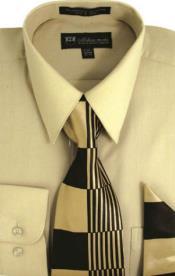 SW917 Milano Moda Classic Cotton Dress Shirt with Ties
