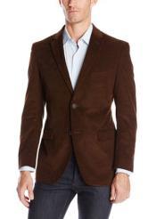 RM1422 Notch Lapel Cotton Corduroy Sport Coat Taupe