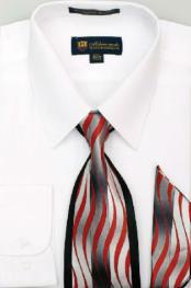 SW919 Milano Moda Classic Cotton Dress Shirt with Ties
