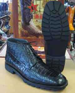 GenuineAllCrocodileCaiLiquidJetBlackAnkleBoot
