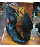RM1030 King Exotic Boots Snip Toe Genuine Crocodile Western