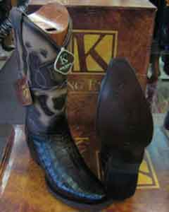 MK955 Genunie Crocodile King Exotic Snip Toe Western Cowboy