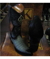 RM1031 King Exotic Boots Snip Toe Genuine Crocodile Western