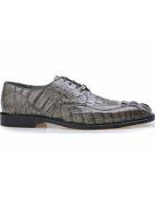 mens Hornback Caiman Leather Lining Lace