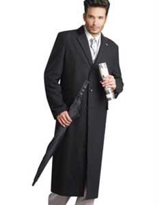 Liquid Jet Black Stylish overcoats