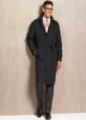 AB46 Winter trench coat Rain Coat Liquid Jet Black