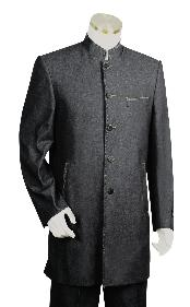 Liquid Jet Black 1940s mens