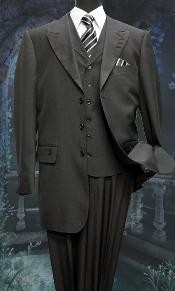 GL2306 3 Piece Solid Fashion 1940s Mens Suits Style