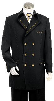 KA8798 Liquid Jet Black Tuxedo 1940s Mens Suits Style