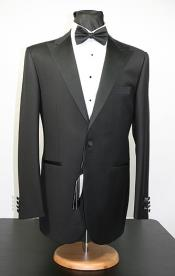 KA2287 Peak 1920s tuxedo style - Liquid Jet Black