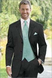 Pinstriped Tuxedo Suit Liquid