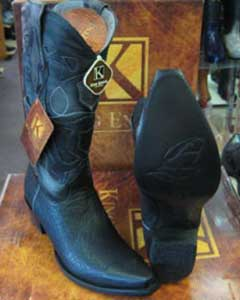 MK935 King Exotic Boots Genunie Shark Liquid Jet Black