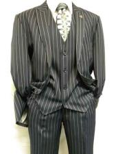 JSM-285 Mens Dark Blue Stacy Adams Stripe Mars Fashion