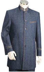 Denim Cotton Fabric Suit