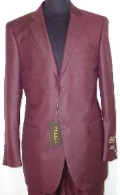 Designer 2-Button Shiny Flashy Burgundy