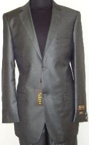 CGR6221 Designer 2-Button Shiny Flashy Dark Grey Masculine color