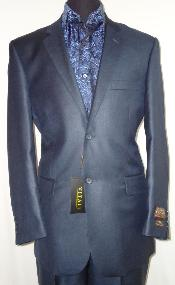 NAB7001 Designer 2-Button Shiny Navy Blue Shade Sharkskin Suit