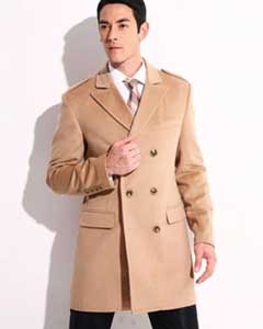 AC-654 Cashmere Double Breasted Long Topcoat Peacoat overcoats outerwear