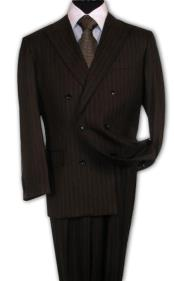 IU6787 brown color shade Suit With Smooth Stripe ~