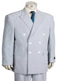 Breasted Summer Cheap priced Mens Seersucker Suit