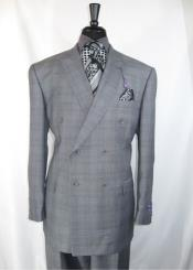 RM1404 Vinci Peak Lapel Double Breasted High back Vented