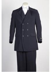 JSM-290 Mens Navy Double Breasted Suit 1920s 40s Fashion