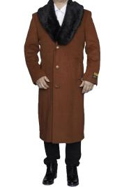 Mens Overcoat mens Removable Fur