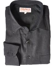 RM1821 Linen Dress Shirt Online Sale Black