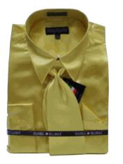 New Gold Satin Dress Shirt