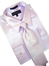 Satin Lavender Dress Shirt Tie