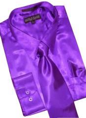 Satin Purple color shade Dress