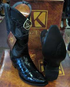 MK913 Genuine Eel King Exotic Boots Western Cowboy Liquid