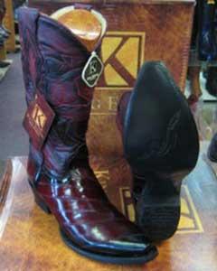 MK954 Genunie Eel King Exotic Boots Snip Toe Western
