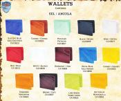 4NA2 Genuine Eel Single-Fold Wallets Different Colors Available